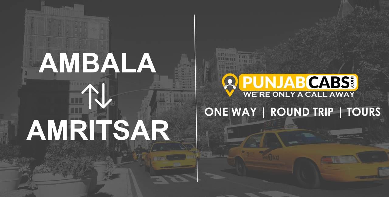 One way taxi Ambala to Amritsar