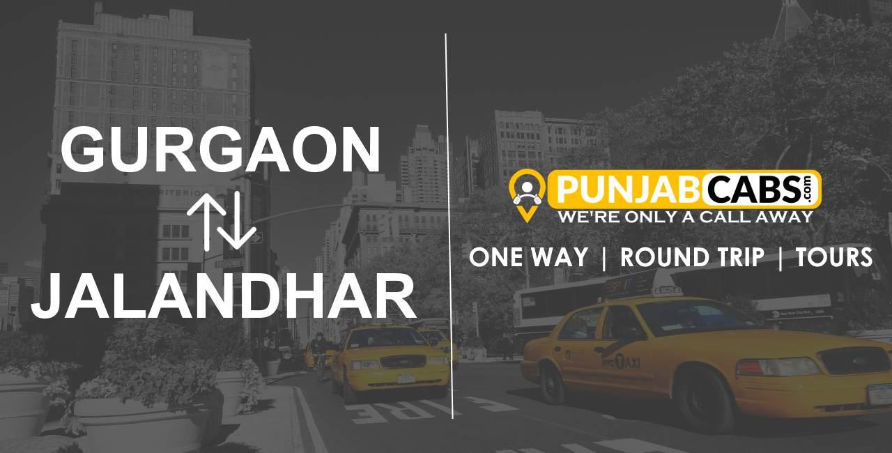 One Way Taxi Gurgaon to Jalandhar